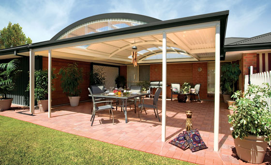 Curved Patio